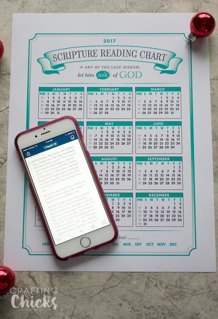 2017 Scripture Reading Chart via @craftingchicks