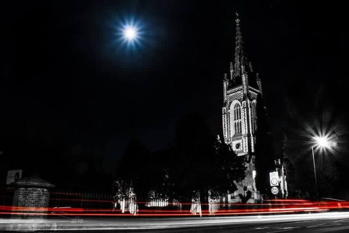 All Saints Church Marlow - Super Moon