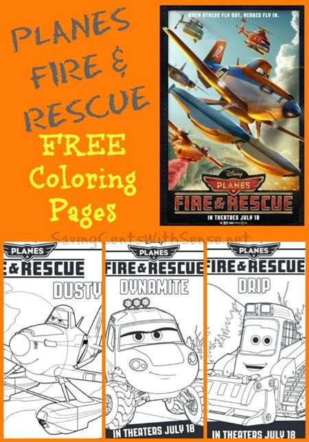 Planes Fire & Rescue FREE Coloring Pages - Saving Cents With Sense