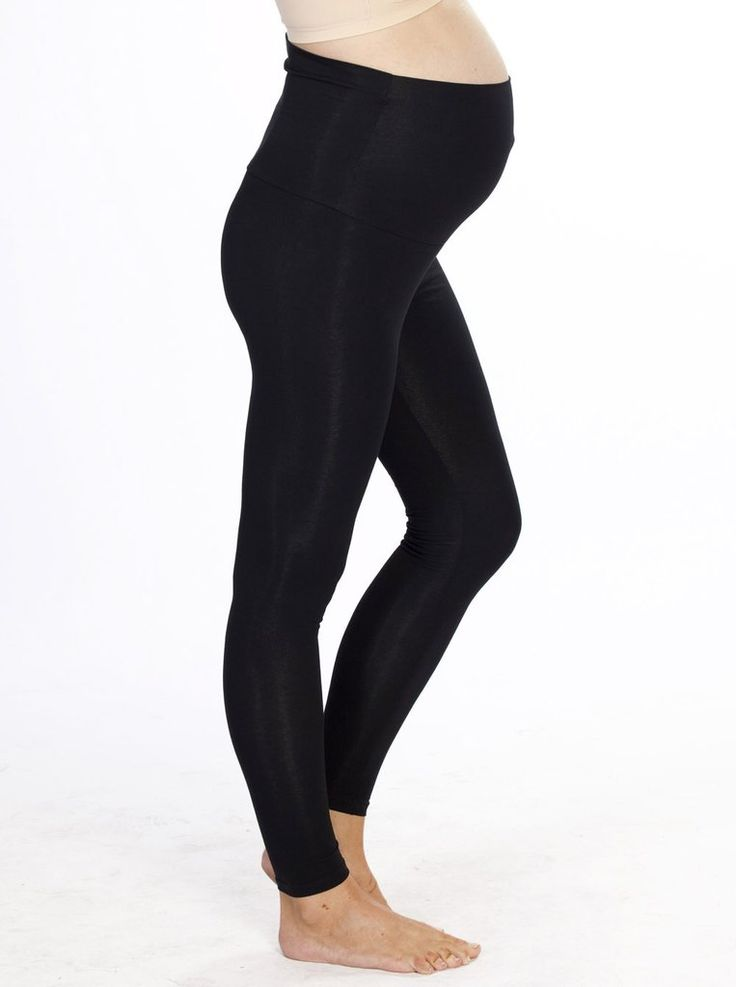 Maternity Foldable Waist Band Basic Tight Legging in  Black, $29.95, are a super soft stretchy full length maternity legging with a foldable wide waist band. A maternity must-have.