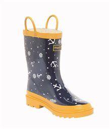 Regatta Stomcloud Welly. Regenlaarzen voor kids met nautische anker en stuurwiel print #zeilen #varen #nautical #sailing