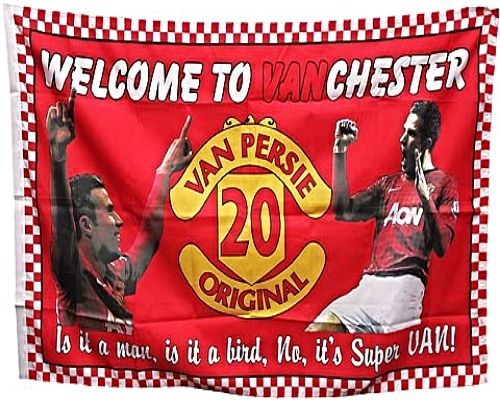 RVP Welcome to VANCHESTER United Player Flag 1