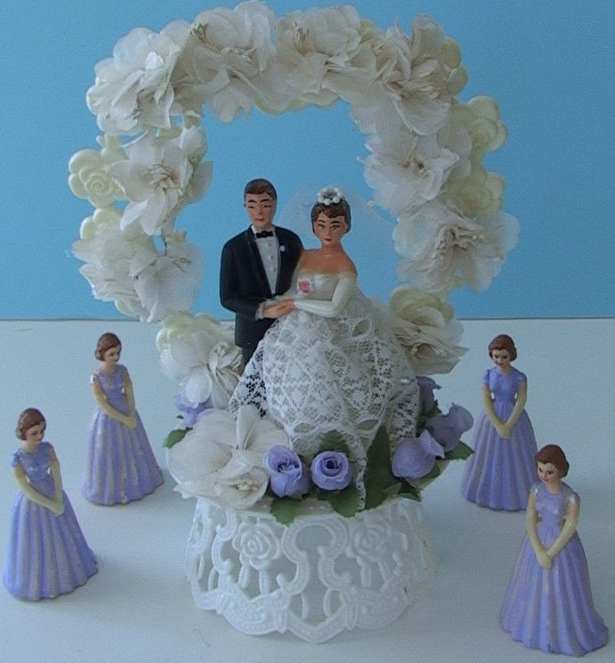 341 Best Vintage Wedding Cake Toppers Images On Pinterest