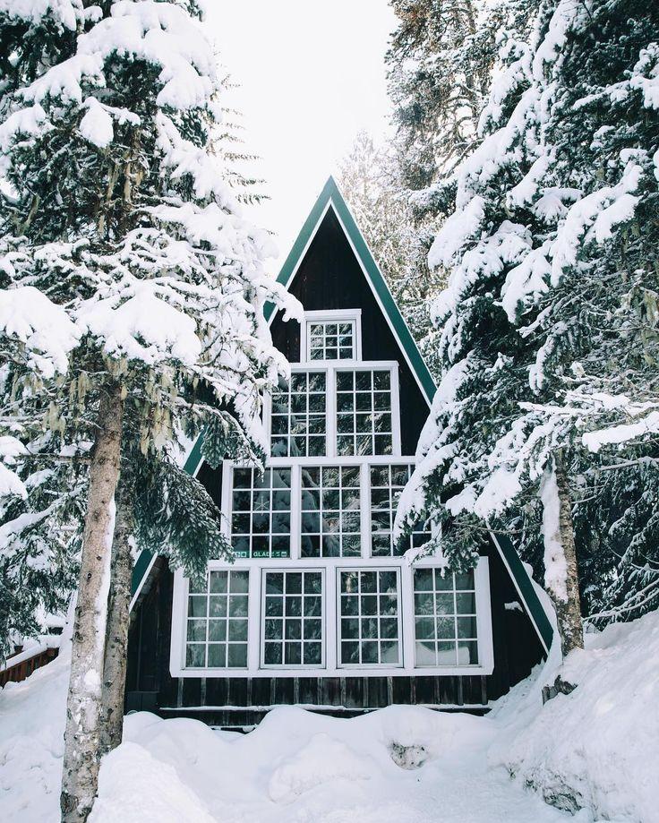 ***Winter A-frame cabin (Mt Hood, Oregon) by Alex Nunley (@a_nunley)