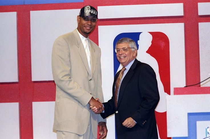 June 25, 1997 - …and with the first pick in the 1997 NBA Draft, the San Antonio Spurs select Tim Duncan, from the Wake Forest University.