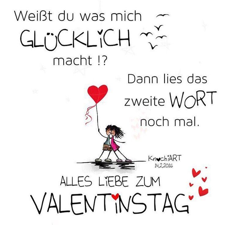 Weißt du was mich #GLÜCKLICH macht !? Dann lies das zweite #WORT ✨ noch mal .  ALLES #LIEBE ZUM #VALENTINSTAG ❤️ #Spruch #sprüche #sprüche4you #spruchdestages ✅ #verliebt #romantik #bff Erwähnen von jemand der dir am #Herzen  liegt ABSOLUT…