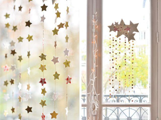 #DIY #Navidad: Móvil de estrellas y papel decorativo o washi