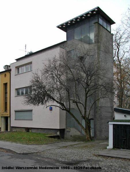 Avenarius House, Warsaw, Saska Kepa ul.Katowicka 7a proj. Bohdan Lachert, Jozef Szanajca, 1937