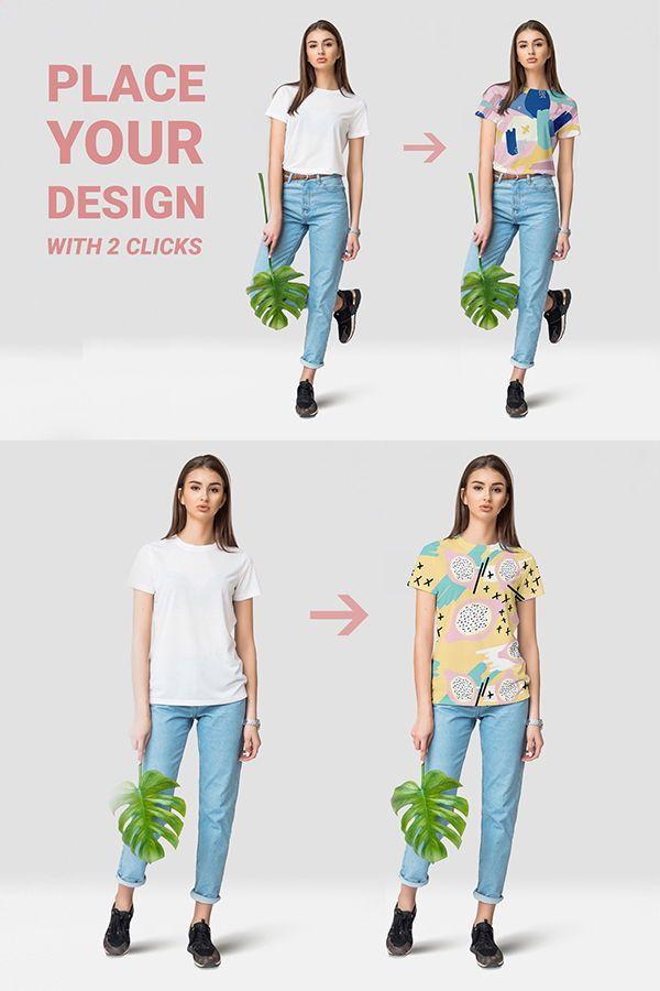 Download Female T Shirt Mockups Free Demo Clothing Mockup Shirt Mockup Branding Design Inspiration