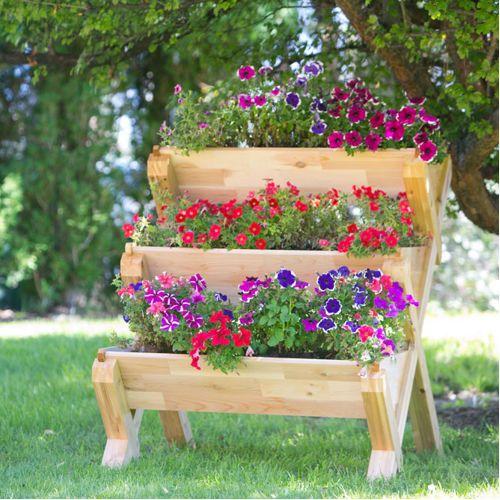 CedarCraft Cascading Garden Planter