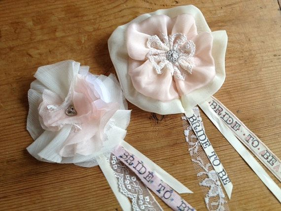 Bride To Be Hen party Corsage by RachelTDesign