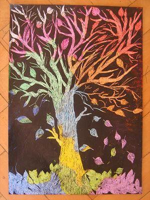 Odkrývací technika - podzimní strom