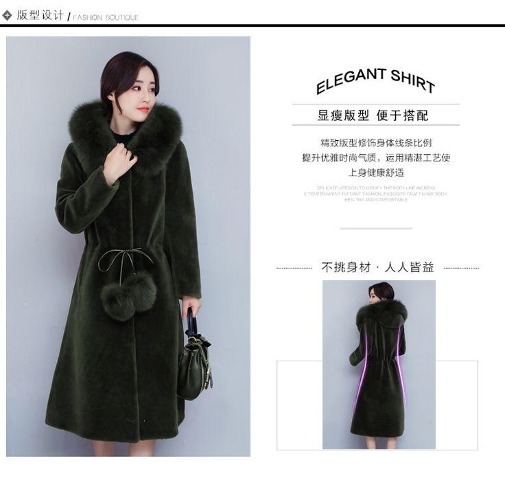 Femmes hiver et en automne grande taille noir faux fourrure de renard manteaux longue section - Taille des rosiers automne ...