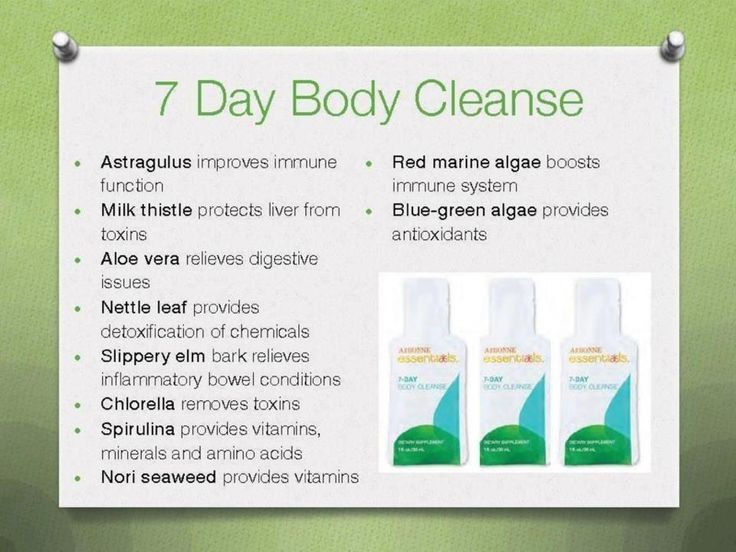 Seven day cleanse