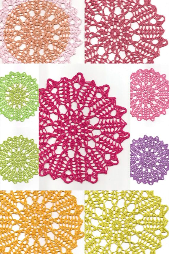 Linen Crochet Doily Christmas Gift Table decoration by DoilyWorld