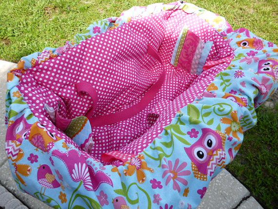 Hey, I found this really awesome Etsy listing at https://www.etsy.com/listing/188589826/pink-owl-flower-design-padded-shopping