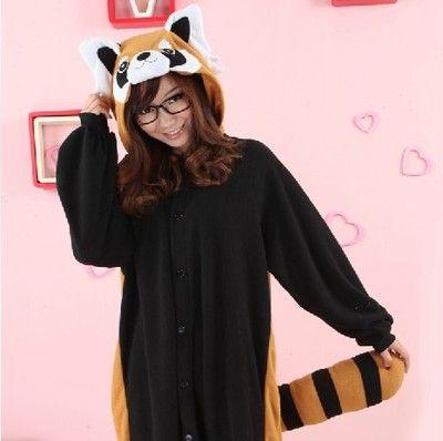 Winter älskande pyjamas overall tecknad tvättbjörn djur styckegods pyjamas korall sammet jumpsuit män borstat lag - Taobao