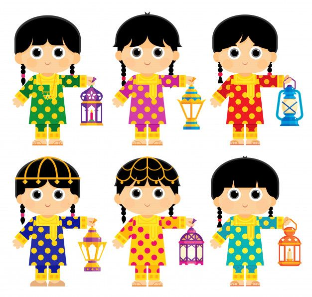 Girls Are Wearing An Old Traditional Clothes In Some Arab Gulf Countries And Carrying Ramadan Lanterns Ramadan Lantern Ramadan Kareem Pictures Ramadan