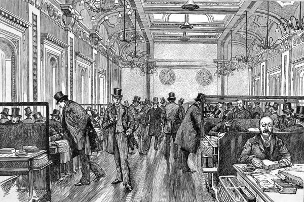 Photograph The Underwriting Room Of Lloyd S Of London 1886 10 X8