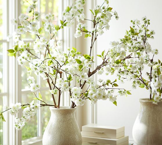 Faux Oversized Cherry Blossom Branch-Pottery Barn--$69--perfect for displaying Salzburg Easter eggs.