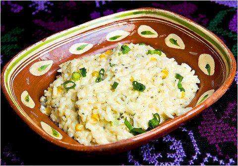 Creamy Rice Casserole with problano chiles! So cheesy and delicious!
