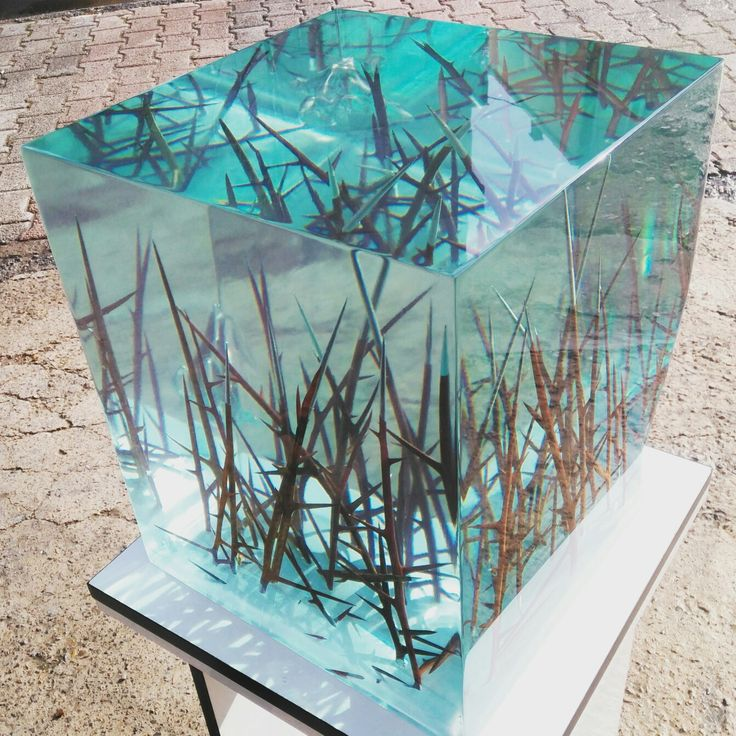 cube resin side table