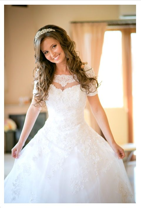 Bride. Perfect wedding gown.