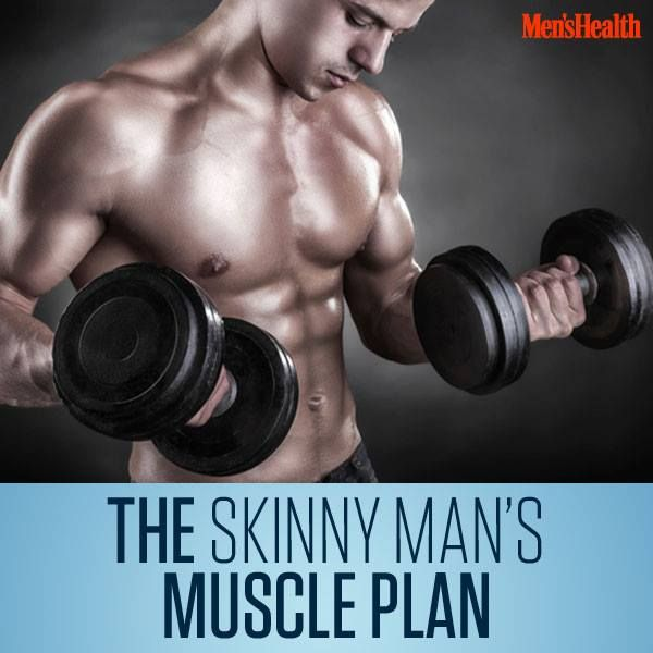 Pack on the #muscle you want by busting the myth of the hard gainer. #workout #fitness http://www.menshealth.com/fitness/skinny-man-muscle?cid=soc_pinterest_content-fintess_july14_skinnymanmuscleplan