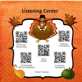 FREE - Instant LIstening Center for November!   Your students will love scanning the codes and listening to the Thanksgiving Stories!  Created by