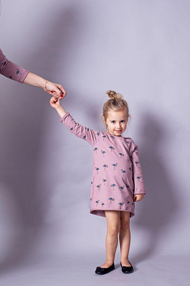 Vestido para niña flamencos - CHILDREN'S DRESS Flamingos - hecho a mano en DaWanda.es