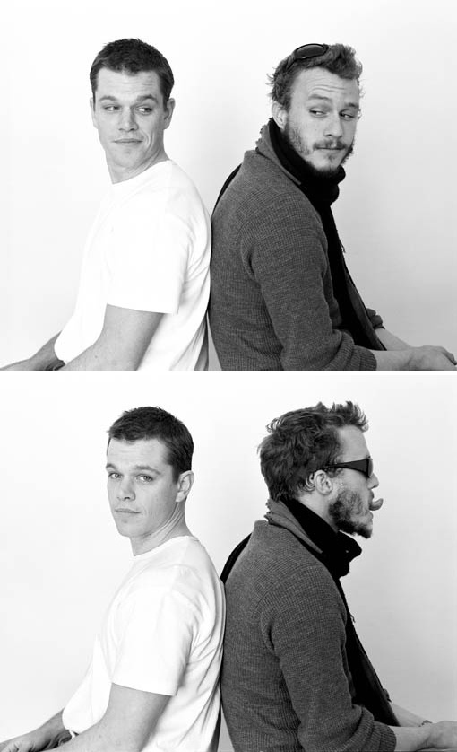 Matt Damon & Heath Ledger    Awh.