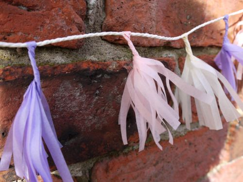 Cream, pink and lilac tissue tassels from the Delysia collection These are some of our tiny tassels but we make them in large sizes too! Handmade decor by Paper Street Dolls  Check out our store - paperstreetdolls.etsy.com