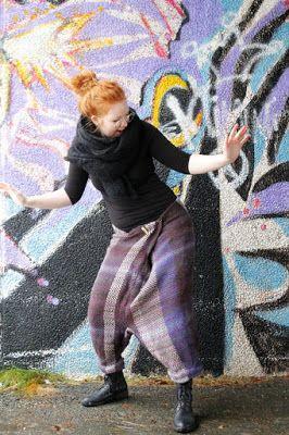 Martje: Woven woolpants by Jenna Marttila