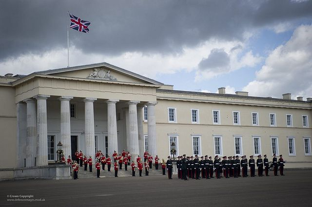 The Army Reserves Consolidated Course Commissioning Parade held at the Royal military Academy Sandhurst with the inspecting Officer General ...