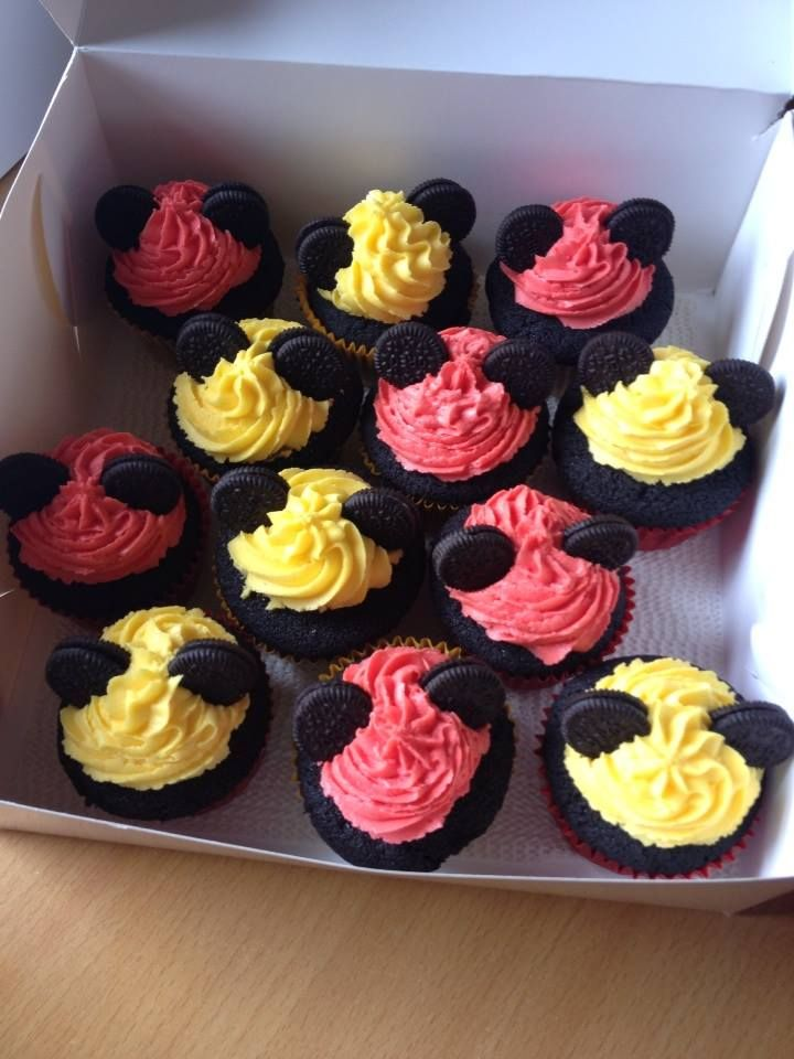 Mickey Mouse Cupcakes for a 2nd birthday