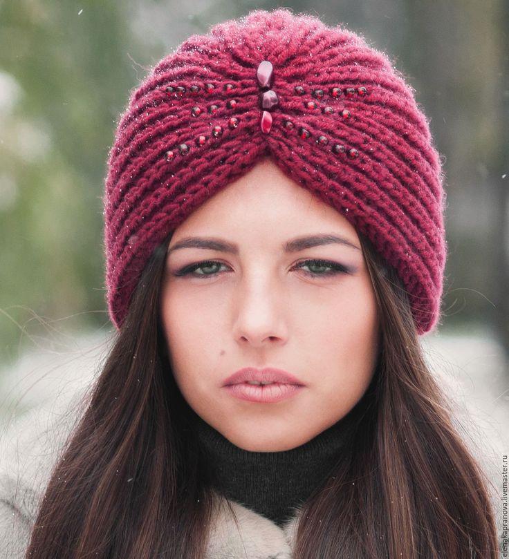 """Купить Чалма тюрбан """"Рубиновый секрет"""" Happy Hat - счастливая шапка - модная шапка"""