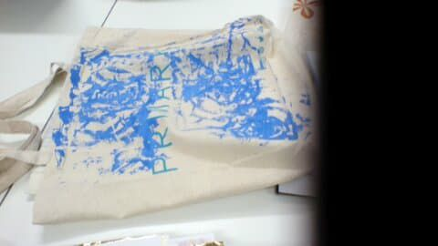 My Primark bag that I printed onto before Christmas!