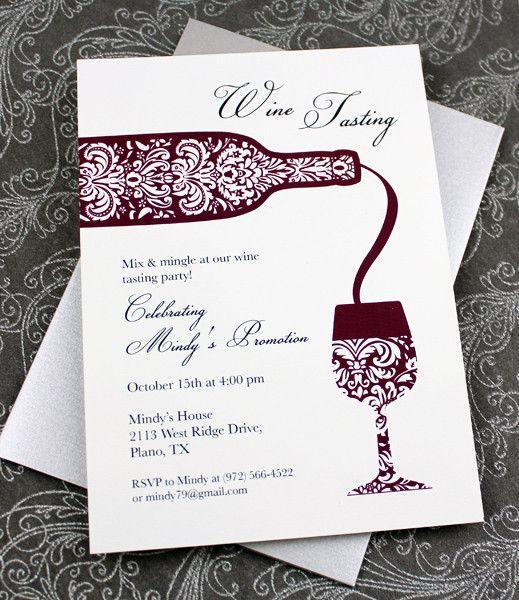 DIY Wine Tasting Invitation from #DownloadandPrint. http://www.downloadandprint.com/templates/wine-tasting-invitation/