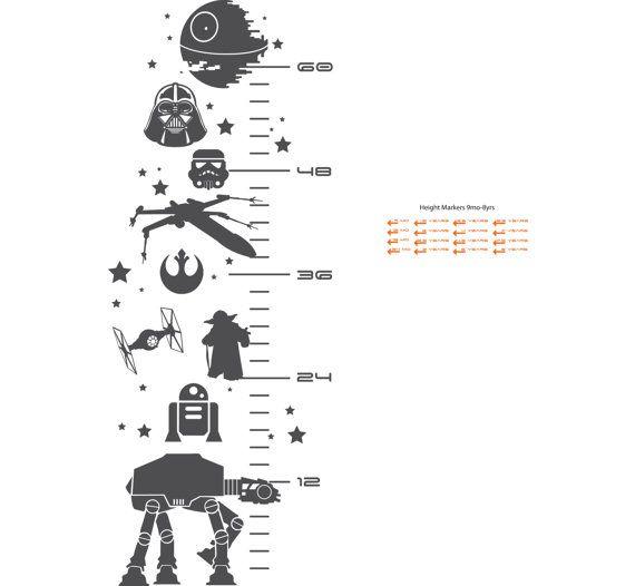 SALE Star Wars Inspired Grow Chart Decal Child door InkSprouts