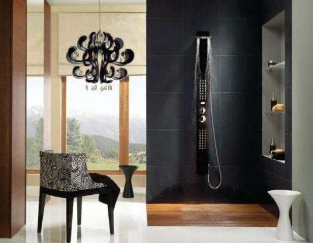 Aranżacja łazienki - panel prysznicowy