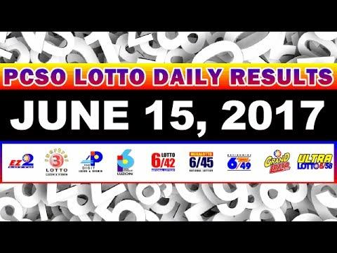 PCSO Lotto Result Today June 15, 2017 COMPLETE & OFFICIAL - http://LIFEWAYSVILLAGE.COM/lottery-lotto/pcso-lotto-result-today-june-15-2017-complete-official/