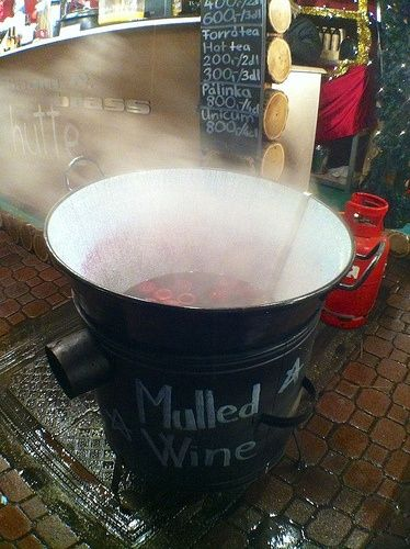 A rather massive barrel of mulled wine. We don't advise drinking it all.   (Image via Ralph Grizzle on Flickr)