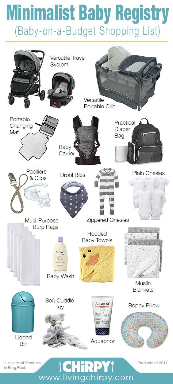 Minimalist Baby Registry (Baby On A Budget)