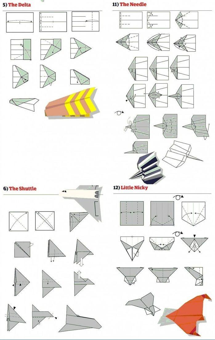 Papierflieger bauen