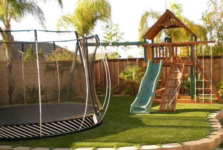 Small backyard decoration ideas for kids playground sets with border and edging ideas backyard playground set
