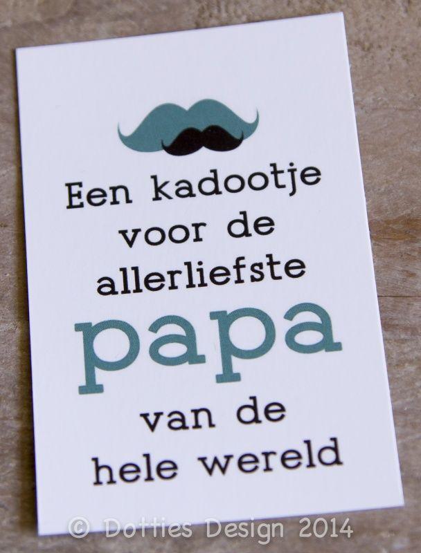 Kadolabel Kadootje Papa