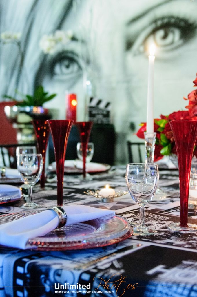 Striking themed event setting and décor   www.unlimitedeven...