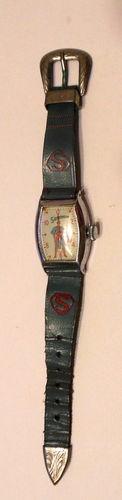 Vintage 1950's Superman Watch w Original Band