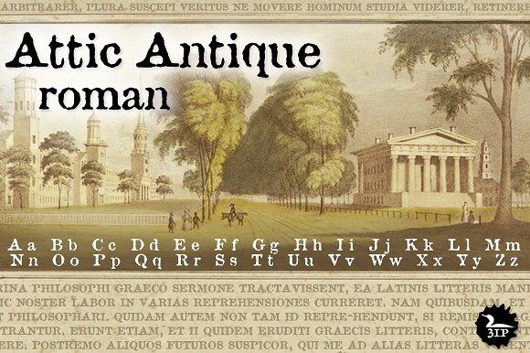 Attic Antique Roman by Three Islands Press on @creativemarket