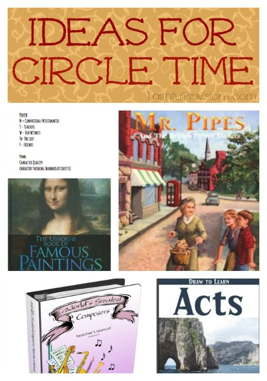 Ideas for Circle Time in Your Homeschool | Faithful Provisions